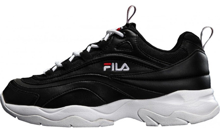 FILA Ray Black Leather