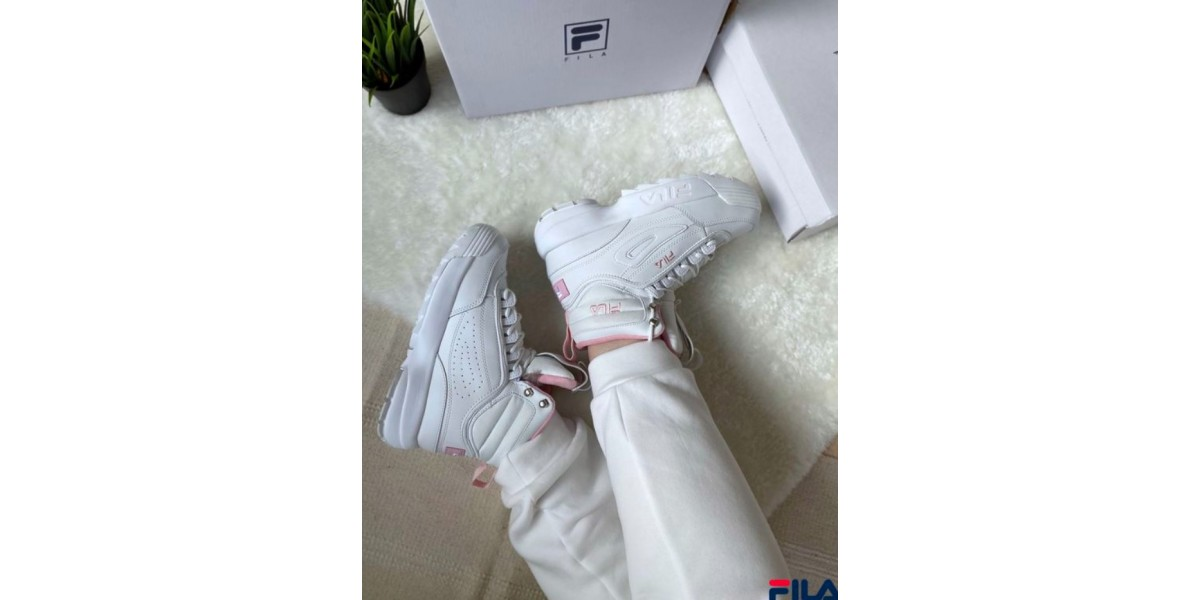 FILA DISRUPTOR 2 High White/Pink с мехом