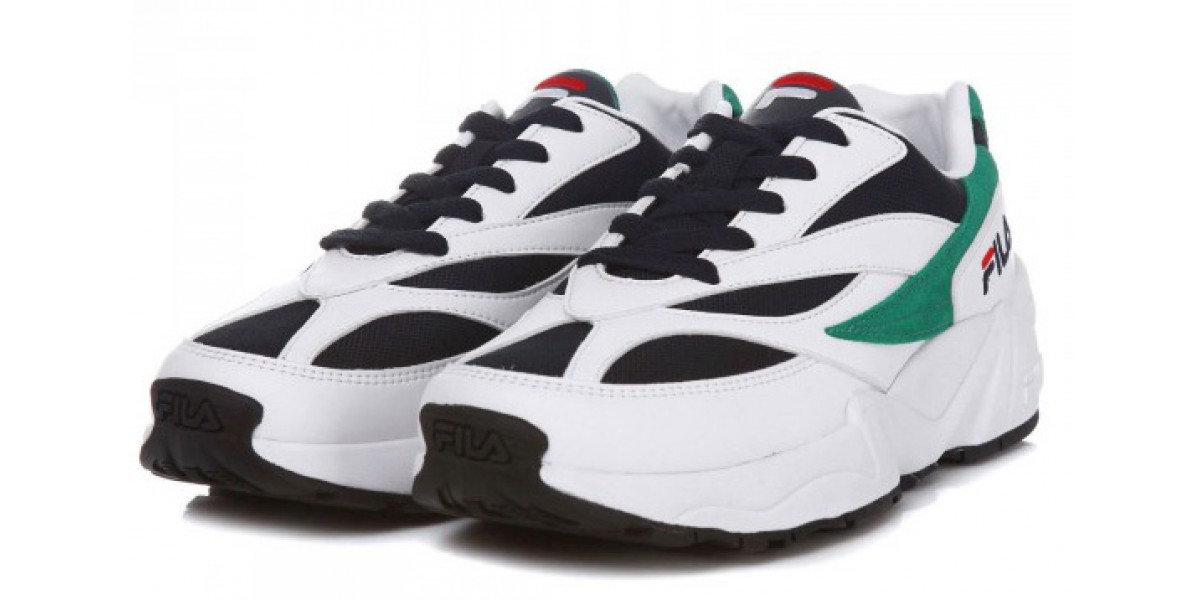 FILA Venom 94 Sneakers In White/Green