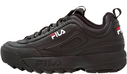 FILA DISRUPTOR 2 All Black с мехом