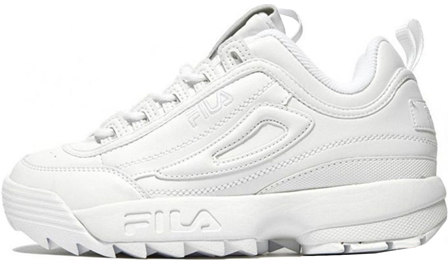 FILA DISRUPTOR 2 All White с мехом