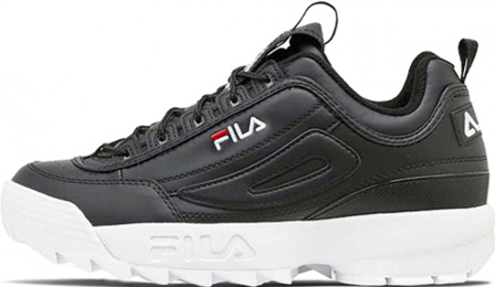 FILA DISRUPTOR 2 Black/White с мехом