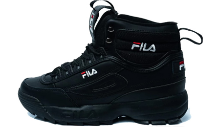 FILA DISRUPTOR 2 High All Black с мехом