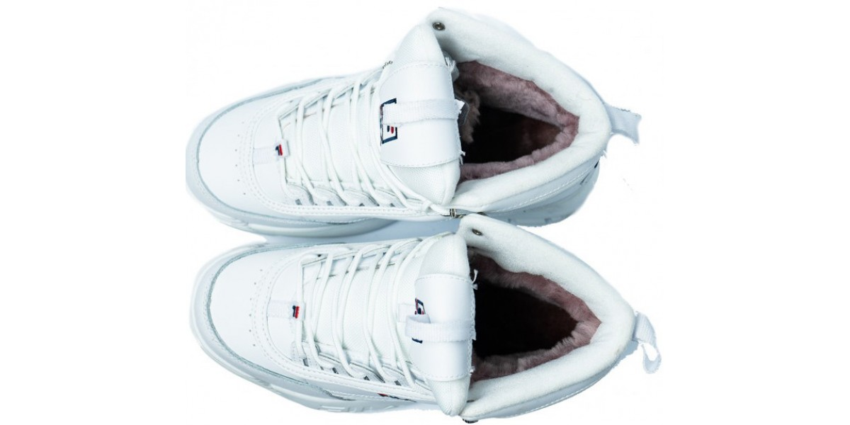 FILA DISRUPTOR 2 High White с мехом