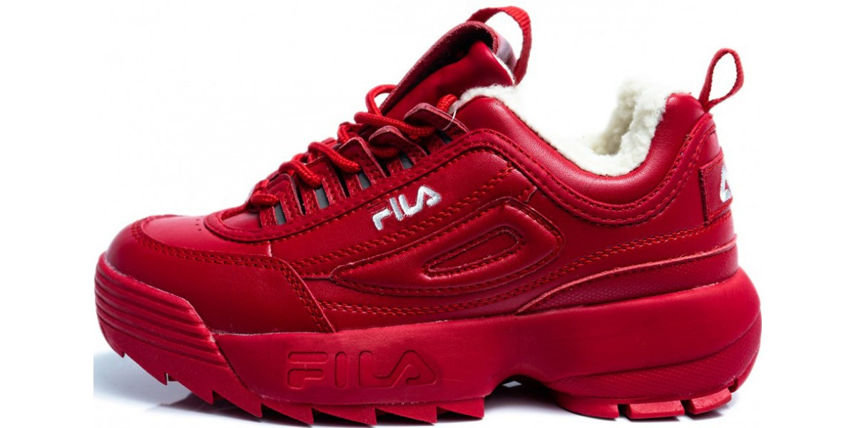 FILA DISRUPTOR 2 Red с мехом